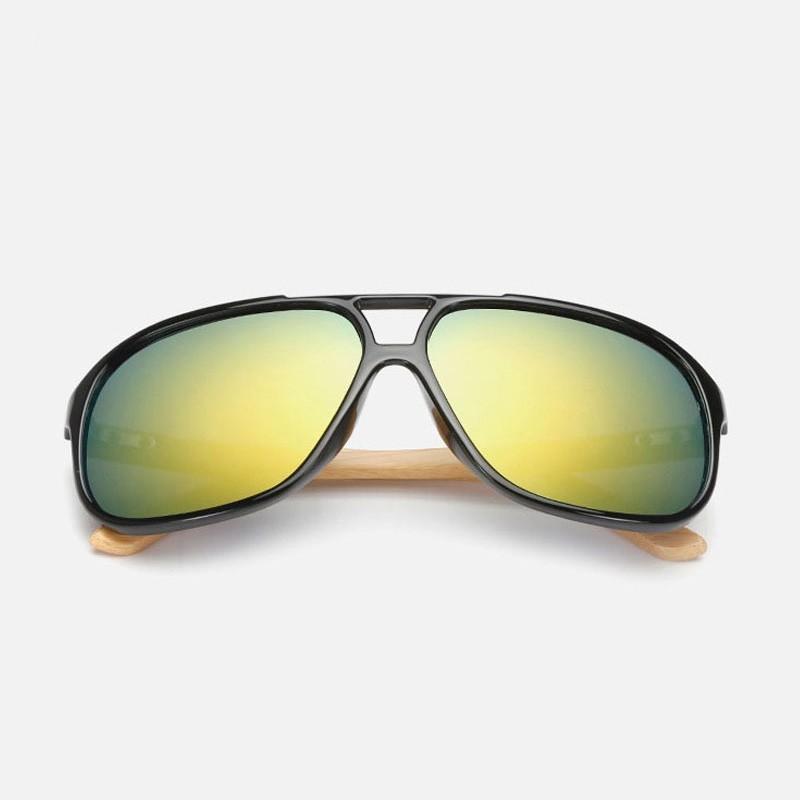 lunettes de soleil en bois type aviateur. Black Bedroom Furniture Sets. Home Design Ideas